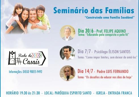Participe do Seminário das Famílias
